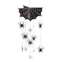 Halloween Spider Mobile Hanging Decoration 64cm