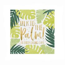 Tropical Leaf Patterned Paper Napkins 20pk