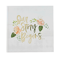 Floral Wedding Guest Book 50 pages