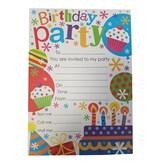 Birthday Party Invitation Sheets & Envelopes 20pk