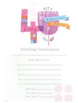 Pink 40th Birthday Invitation Sheets & Envelopes 20pk