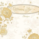 Golden Wedding Gift Thank You Cards with Envelopes - 6pk