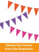 Solid Colour Flag Bunting 10m