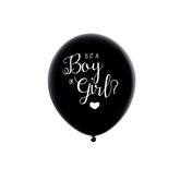 "Oh Baby Gender Reveal 16"" Black Latex Balloon"