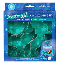 Mermaid Cake Decorating Cookie Cutter 5pce Set