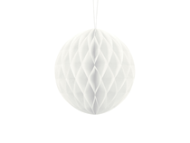 White Hanging Honeycomb Ball 20cm Decoration