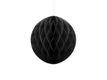 Black Hanging Honeycomb Ball 20cm Decoration