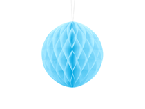 Light Blue Hanging Honeycomb Ball 20cm Decoration