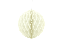 Cream Hanging Honeycomb Ball 20cm Decoration