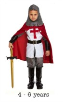 Child Crusades Knight Fancy Dress Costume 4 - 6 yrs