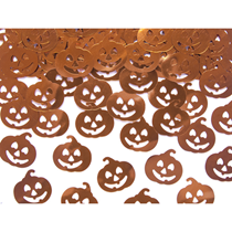 Halloween Metallic Orange Pumpkin Confetti 15g