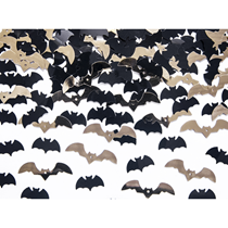 Halloween Black & Gold Foil Bat Confetti 15g