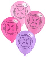 "Pink Birthday Girl 10"" Latex Balloons 8pk"
