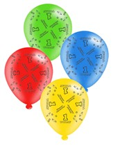 """Age 1 Assorted 10"""" Latex Balloons 8pk"""
