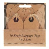 Scalloped Kraft Luggage Tags 10pk