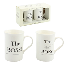 The Boss & The Real Boss Mug Set