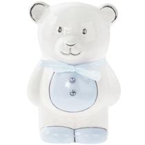 Blue Teddy Ceramic Money Bank