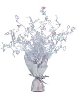 Iridescent Hearts Balloon Weight Centrepiece