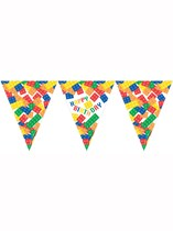 Block Party Happy Birthday Flag Banner