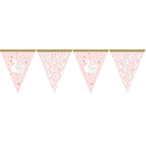 Stylish Swan Party Metallic Ink Flag Bunting 3.7M