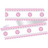 Pink Heart Stitch Cake Frill