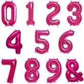 "North Star Magenta 16"" Foil Numbers & Symbol Balloons"