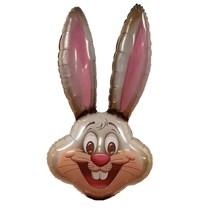 Gold Easter Rabbit Head Jumbo Foil Balloon Decoration