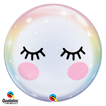 Qualatex Unicorn Eyelashes Bubble Balloon