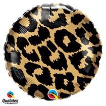 Leopard Spots Fur Print 18 inch foil balloon decoration jungle