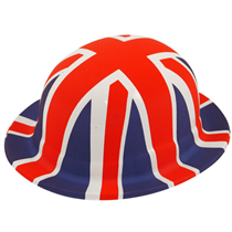 Union Jack British Bowler Hat Novelty