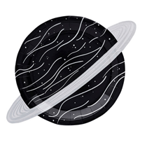 space party planet paper plate 10 pack