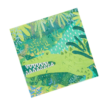 Crocodile Jungle Green Party Napkins 20pk