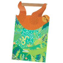 Jungle sleepy sloth party loot bags 5 pack