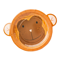 Jungle Monkey Shaped Party Plates 10 pack