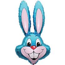 "Jumbo Blue Rabbit 35"" Foil Balloon Pkgd"