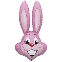 """Jumbo Pastel Pink Rabbit 35"""" Foil Balloon Pkg"""