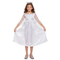 Nativity Christmas Angel White Fancy Dress Costume