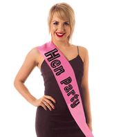 Pink Hen Party Satin Like Sash