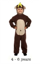 Child Monkey Fancy Dress Costume 4 - 6 yrs