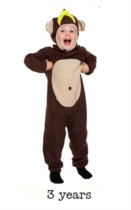 Child Monkey Fancy Dress Costume - Toddler
