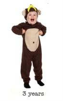 Child Monkey Fancy Dress Costume - Toddler