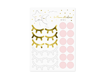 Little Star Stickers Eyelashes Cheeks 10pce