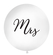 Giant 1M (3.3ft) White Wedding Mrs Latex Balloon