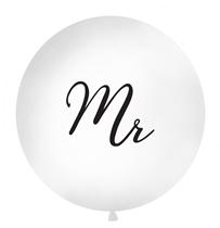 Giant 1M (3.3ft) White Wedding Mr Latex Balloon