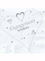 Engagement Wishes Luncheon Napkins 18pk