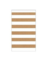 Medium Kraft Striped Paper Treat Bags 15pk