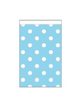 Mini Light Blue Polka Dot Paper Treat Bags 20pk