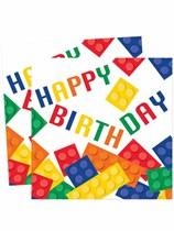 Block Party Happy Birthday Luncheon Napkins 16pk