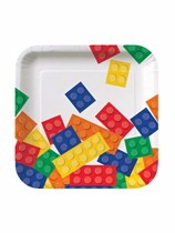 "Block Party Square 7"" Paper Plates 8pk"