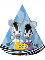 Zou Zebra Party Hats 8pk